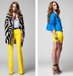 DSquared Resort 2012... I could ROCK some yellow pants!