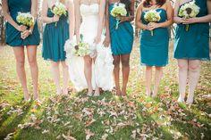 Bridesmaids in Teal| Photo:  sugarandsoulphotography.com