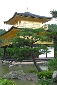 The serene Golden Temple in Kyoto, Japan. Click through for more must-see sites!