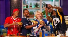 """Snoop Dogg and Martha Stewart Are the Most Delicious Pairing on Any Cooking Show   The odd couple bring a winning recipe to VH1's """"Martha & Snoop's Potluck Dinner Party."""""""