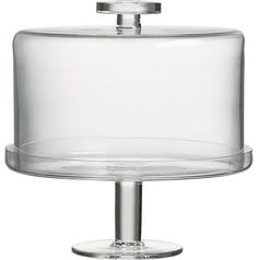 Footed Cake Platter With Dome - $59.95 » I love the straight lines of this modern twist on the classic stand and cloche. The dome fits snugly into the stand to preserve freshness, and the knob has a good grip, ensuring you wont ever drop it.