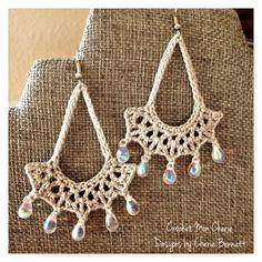 Free Crochet Pattern: Tanya's Teardrop Earrings