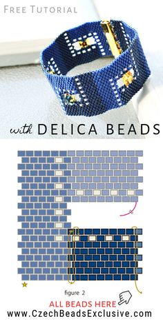 How to Make 'Indigo' Beaded Bracelet with Miyuki Delica Seed Beads – Easy Tutorial Wie man 'Indigo' Perlenarmband mit Miyuki Delica Rocailles macht – Einfaches Tutorial Seed Bead Bracelets Diy, Seed Bead Crafts, Beaded Bracelets Tutorial, Seed Bead Jewelry, Seed Beads, Diy Bracelet, Colorful Bracelets, Diamond Bracelets, Bracelets