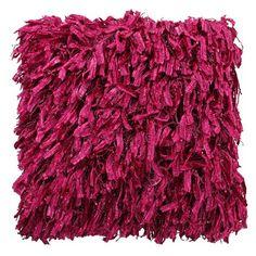 Cranberry Shaggy Cushion   ACHICA