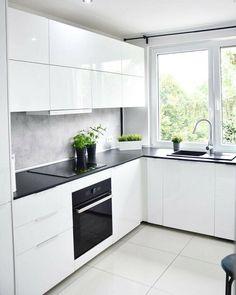 Kitchen Room Design, Kitchen Cabinet Design, Modern Kitchen Design, Kitchen Layout, Home Decor Kitchen, Interior Design Kitchen, Kitchen Furniture, New Kitchen, Home Kitchens