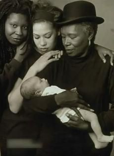 Whoopi Goldberg, her daughter, her mother and her grandchild