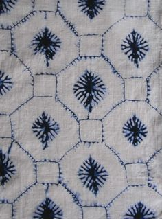 pattern + indigo. Lovely use of octagons. We're all about Octagons here at Octaspring!  http://octaspring.com