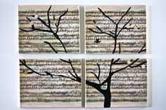 Sheet music canvas art; @Jenn L Milsaps L Roulston You could do this with your wedding song!!