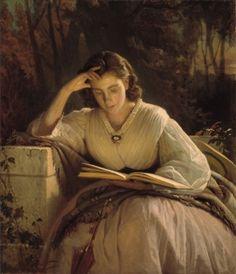 Woman Reading. Portrait of Sofia Kramskaya by  Ivan Nikolayevich Kramskoy, 1866. The State Tretyakov Gallery, Public Domain