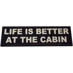 Life Is Better At The Cabin Vintage Wood Sign for Wall Décor-- PERFECT FOR ANY CABIN HOME DECOR!!! *** Be sure to check out this awesome product. (This is an affiliate link and I receive a commission for the sales)