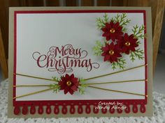 F4A76~Itty Bitty Flowers 4 Christmas by WeeBeeStampin - Cards and Paper Crafts at Splitcoaststampers
