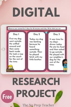 Need a research project for your first grade or second grade students to use during distance learning? Check out this free research my pet project. Fully digital so that you can upload to google classroom or other online service. Audio narration makes it possible for kids to work independently during their reading or writing time. Students observe, research, and write about one of their pets or a backyard animal. A simple and easy way for your kids to practice their research skills.