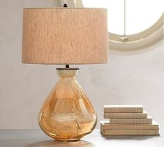 Alana Luster Lamps from Pottery Barn - several different shapes and colors. I like it for a formal living room