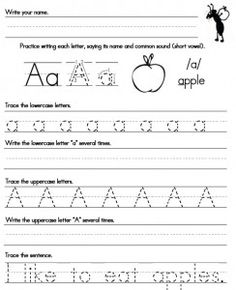 Handwriting-Worksheet-A-Z FREE Printables