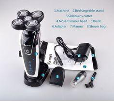 Electric Shaver Razors Triple Blade Men System Rechargeable Mens Electric Razor  #ElectricShaverRazors
