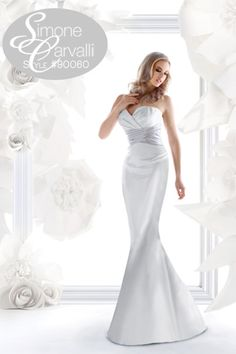 Simone Carvalli fall 2011 wedding gown, style #90060 #sweetheart #understated