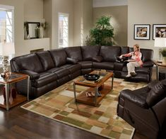 Brown Sectional sofa with Chaise . Brown Sectional sofa with Chaise . Brown Sectional sofa with Chaise Fresh sofa Design Living Room Without Sofa, Plum Living Rooms, Living Room Sofa Design, Living Room Sectional, My Living Room, Oversized Sectional Sofa, Sectional Coffee Table, U Shaped Sectional Sofa, Sectional Sofa With Recliner