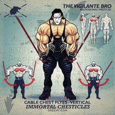 vigilante sting chest flyes - chest exercise