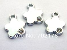 Find More Jewelry Findings & Components Information about 50pcs approximately 13x10mm Flower Hang Charms Fit Pet Collar Necklace Bracelet Cell Phone Charms free shipping,High Quality charm necklace silver,China necklace charms wholesale Suppliers, Cheap charm from Floating charms floating lockets on Aliexpress.com