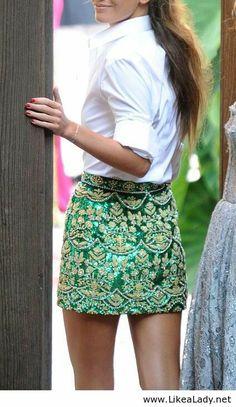 Amazing green skirt