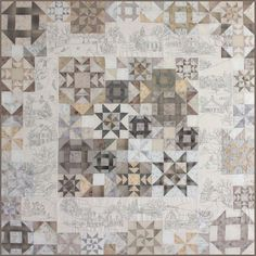 Crabapple Hill Snow Days Ptrn: Includes patterns for the embroidered squares as well as instructions for completing the quilt. Finished size 66 x 66 Sampler Quilts, Star Quilts, Quilt Blocks, Scrappy Quilts, Quilting Designs, Quilting Ideas, Quilting Board, Modern Quilting, Quilting Fabric