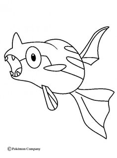 Remoraid Pokemon coloring page, More Water Pokemon coloring sheets on hellokids.com