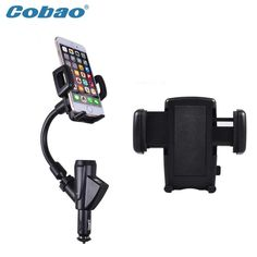 Caobao holder phone charger mobile phone accessories dual usb car charger holder mount stand support for samsung iphone meizu