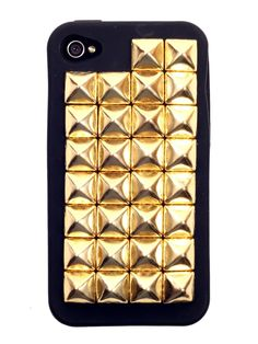 Gold Studded Black iPhone Case 4S !@#$%^&*()_+