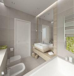 DOM W STYLU EKO WARSZAWA URSUS - Mała łazienka, styl nowoczesny - zdjęcie od THE VIBE