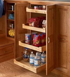 DIY Pull out shelves for cabinets & pantry.....instructions.