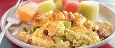 Add a twist to brunch or supper with a biscuit-topped egg bake. Serve with a bowl of fresh berries or melon and warm breadsticks.