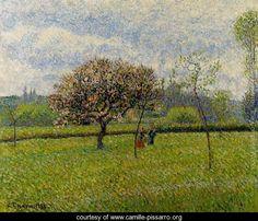 Flowering Apple Trees at Eragny - Camille Pissarro - www.camille-pissarro.org