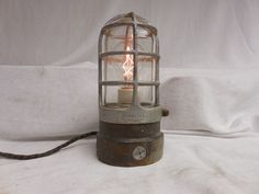 VINTAGE INDUSTRIAL Explosion Proof TABLE LIGHT APPLETON/TOUCH Feature STEAMPUNK*
