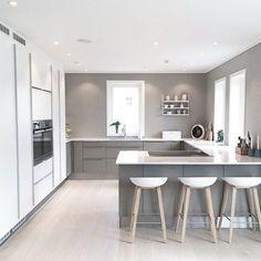 Modern Kitchen Design Modern Kitchen Cabinets Ideas to Get More Inspiration Dish Kitchen Room Design, Modern Kitchen Design, Home Decor Kitchen, Kitchen Living, Kitchen Interior, Home Kitchens, Kitchen Ideas, Kitchen Layouts, Kitchen Tips