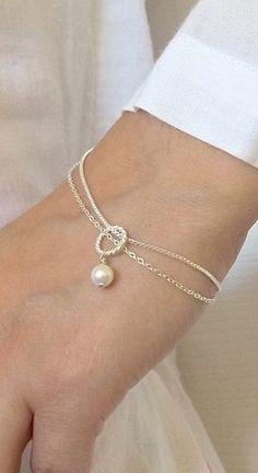 Bridesmaids Bracelet gift Swarovski Pearl Mother's day gift
