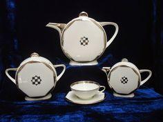 Art deco tea set made for the departement store Printemps (Atelier Primavera) Manufacturer- TLB Limoges, France c.1929-1939