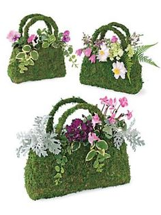 Beaumont Moss Basket from Solutions catalog. This should be easy to make with screen or chicken wire.