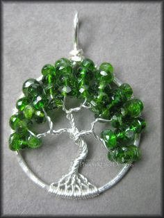 Tree of Life Pendant Russian Diopside