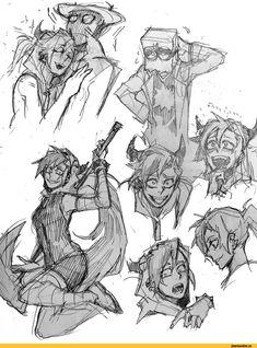 villainous,Demencia,Blackhat,flug,скетч,Mitsuyuki32
