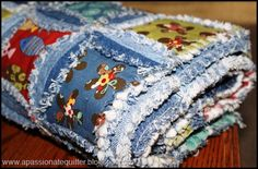 Pattern by Inventive Denim: Denim Circle Rag Quilt