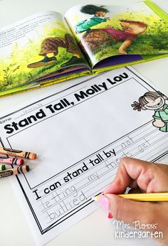 """Stand Tall, Molly Lou Melon is a great back to school read aloud and leads well into having student write about ways that they can """"stand tall"""" like her. Great conversation starter for bucket fillers and anti-bullying programs as well. Anti Bullying Lessons, Anti Bullying Activities, Kindness Activities, Kindergarten Activities, Book Activities, Anti Bullying Programs, Books About Bullying, Bullying Prevention, Classroom Management"""