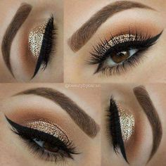Bronze Gold Glittery Eye Shadow To Try For A Bold Look