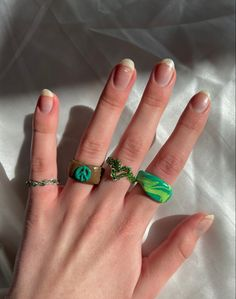 Fimo Ring, Polymer Clay Ring, Funky Jewelry, Cute Jewelry, Diy Clay Rings, Nail Ring, Cute Rings, Clay Creations, Clay Crafts