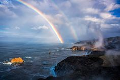 Double Love - Friday morning Gale and I traveled down highway 1 thru Big Sur. Looking back towards the Iconic Bixby Bridge during a break in the storm, we saw this. Double Love John Slot Photography