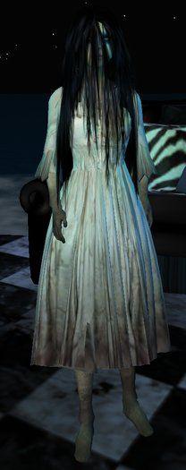 She Never Sleeps - Samara The Ring Scary Horror Halloween Costume