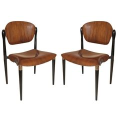 "Pair Eugenio Gerli Chair By Tecno ""S83"" 
