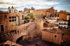 Historic Caceres in Extremadura with eclectic cultural history.