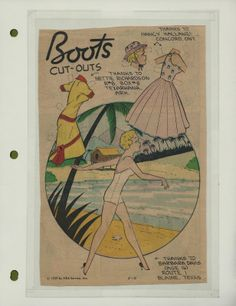 5-10-59 Boots paper doll / eBay