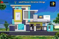 Exterior Architecture Facade Galleries Ideas For 2019 House Outer Design, Single Floor House Design, House Ceiling Design, House Front Design, Modern House Design, Modern Houses, Village House Design, Bungalow House Design, Building Elevation