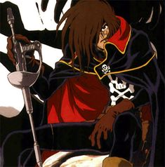 A look at Space Pirate Captain Harlock and his similarities and differences to my own Captain Ellison Firebrandt.